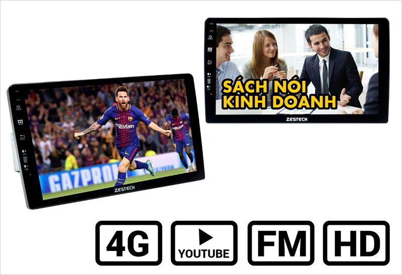 Kết nối internet 4G để xem video, nghe nhạc, xem truyền hình