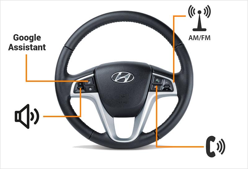 Kết nối đến nút bấm trên vô lăng để điều khiển tính năng cơ bản