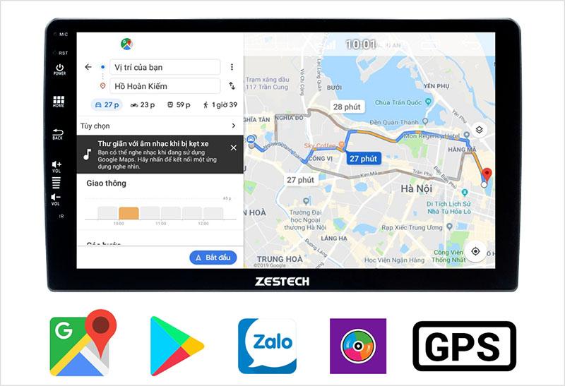 Cài đặt đa ứng dụng, đặc biệt là ứng dụng bản đồ để chỉ đường